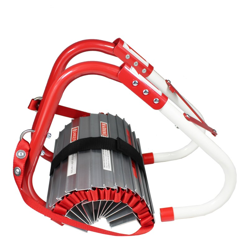 good quality aluminum folding fire escape ladder for rescue